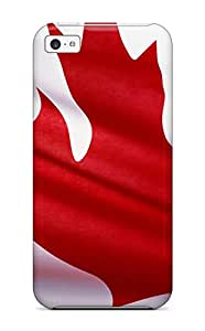 Fashion Tpu Case For Iphone 5c- Canada National Flag Defender Case Cover