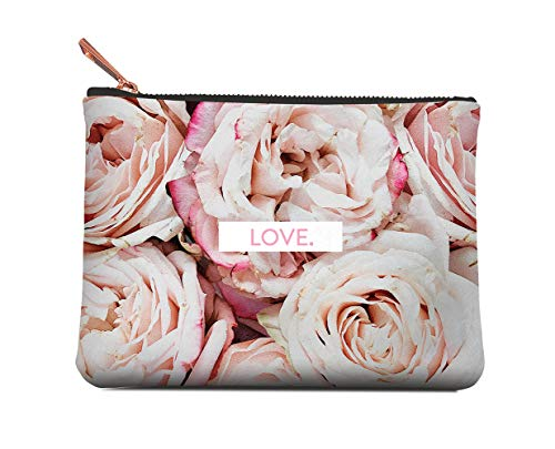 Studio Oh! Medium Zippered Pouch Available in 8 Designs, A Closer Look Pink Rosette