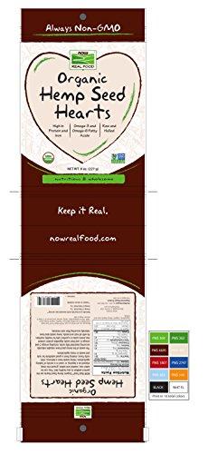 NOW Foods Organic Hemp Seed Hearts, 8-Ounce