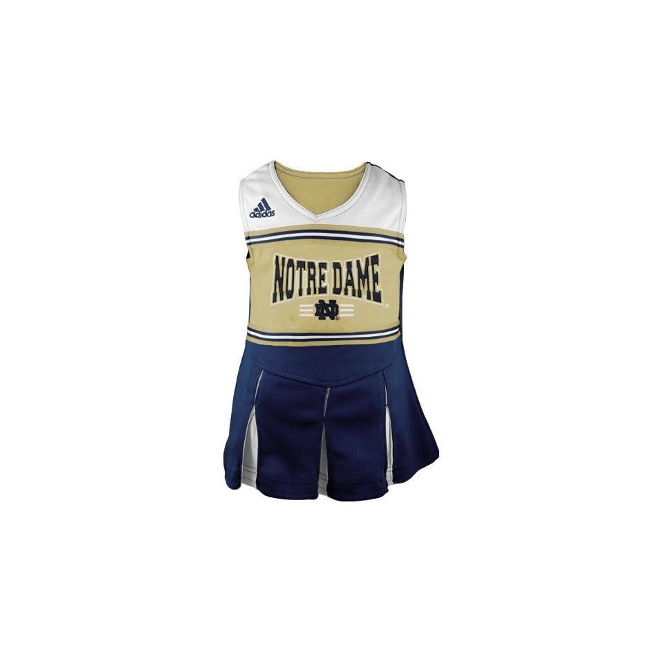adidas Notre Dame Fighting Irish Preschool Navy Blue Gold Cheerleader Dress & Bloomers Set