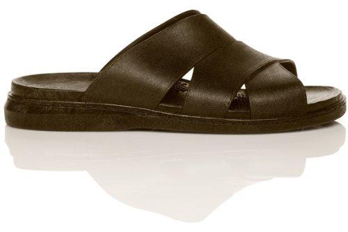 Okabashi Mens Milan Scarpe Da Sandalo Impermeabili Massaggianti Ergonomiche (6.5 - 7.5 Mens (okabashi Size Ml), Marrone)