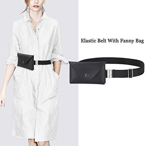 Waistline Leather - JASGOOD Womens Leather Belt Fanny Pack With Removable Belt Tassel Waist Pouch Fashion Belt Bags (Fits Waistline 27