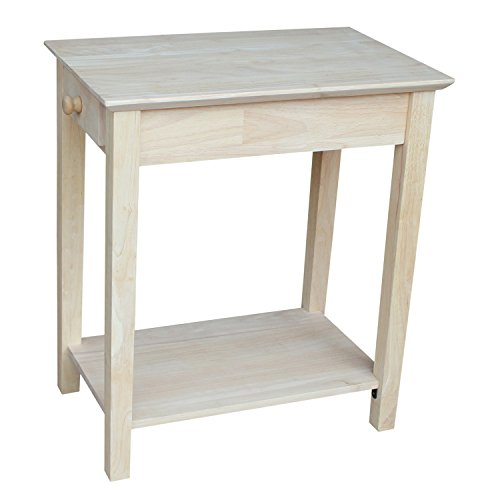 Unfinished Wood End Table (International Concepts OT-2214 Narrow End Table, Unfinished)