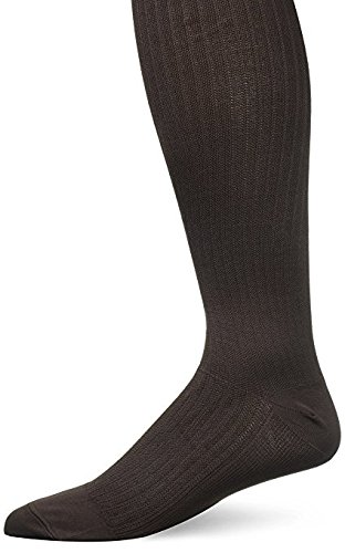 JOBST Mens Dress Knee High 8-15 Closed Toe Socks, Brown, Large