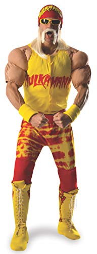 Rubie's Costume Co Men's WWE Hulk Hogan Grand Heritage Costume, Multi, -