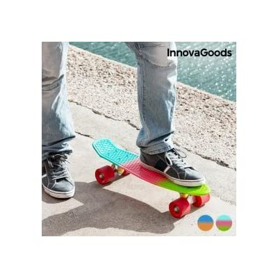 InnovaGoods ig117223 Skateboard, Mixte Adulte, Bleu/Orange, Taille unique