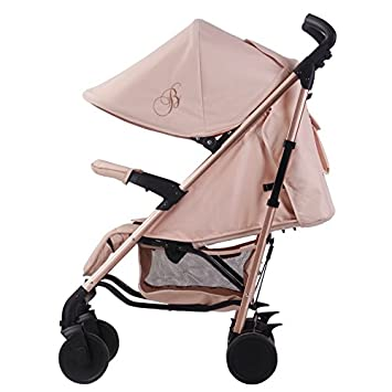 Cochecito de bebé Billie Faiers MB51 de My Babiie, de color oro rosa y rosado, incluye protector de lluvia (MB51KC): Amazon.es: Bebé