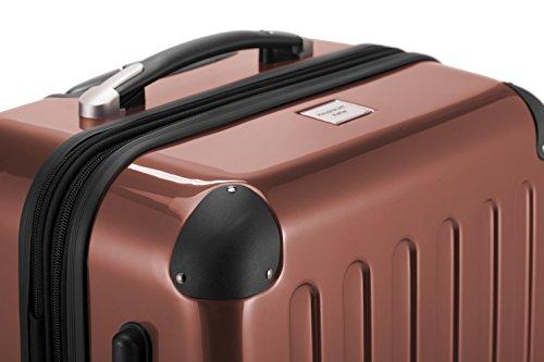 HAUPTSTADTKOFFER® 42 Liter Handgepäck · Boardcase · (55 x 35 x 20 cm) · Hochglanz · TSA Schloss · MOCCA BRAUN