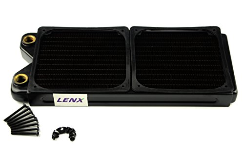 BXQINLENX 240 Pure Copper 12 Pipe Heat Exchanger Radiator for Computer PC CPU CO2 Laser Water Cool System