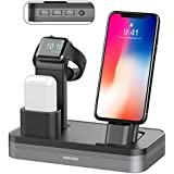 Conido 3 in 1 Charging Stand Compatible Apple Watch iPhone AirPods Charging Docks Holder 6-Port USB Chargeable Stand Compatible iWatch Series 3/2/1, iPhone X, 8, 8 Plus, 7, 7 Plus, 6, iPad Mini, iPod