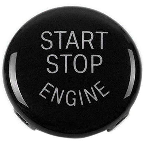 TOOGOO Pulsante Arresto del Motore Interruttore accensione Sostituzione Coperchio per BMW X1 X3 X5 X6 Z4 (E84, E83, E70, E71, E89) 1 3 5 Serie (E87, E90 / E91 / E92 / E93, E60) (Nero) 75760A1