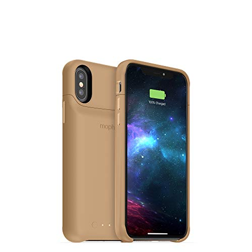 - mophie Juice Pack Access - Ultra-Slim Wireless Battery Case - Made for Apple iPhone Xs/iPhone X (2,000mAh) - Gold