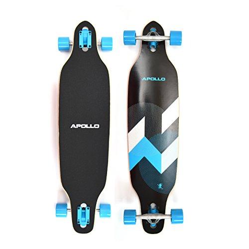 Apollo Longboard Matei Special Edition Komplettboard mit High Speed ABEC Kugellagern inkl. Skate T-Tool, Drop Through Freeride Skaten Cruiser Boards