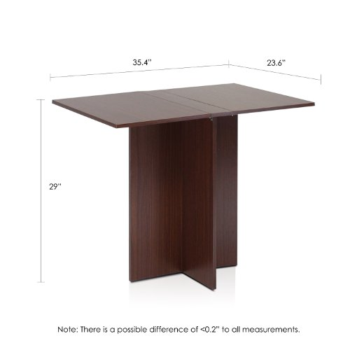 Furinno FNAJ-11072 Boyate Special Simple Folding Table, Walnut