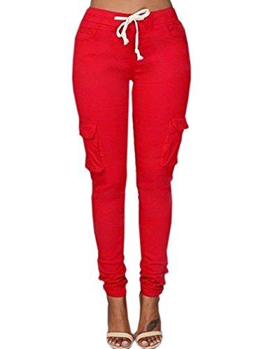 Coulisse Jogging Tasca Autunno Libero Di Rot Vita Mode In Pantaloni Donna Slim Con Eleganti di Accogliente Multi Pantaloni Alta Pantaloni In Fit marca Lunga Elastico Con Tempo Interna Vita Primaverile fH7Pq