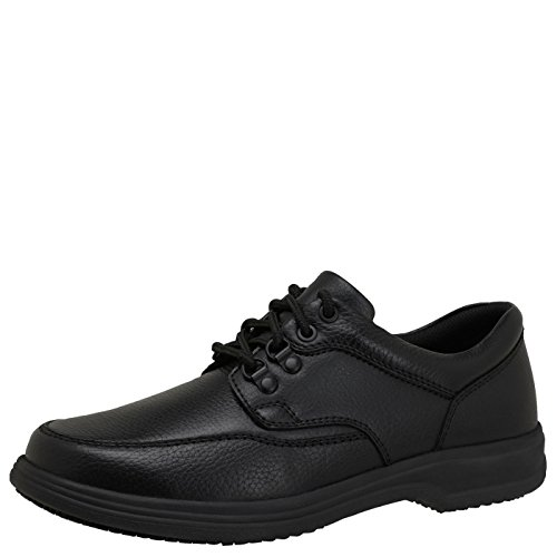 safeTstep Slip Resistant Men's Black Men's Comfort Oxford 6 Wide