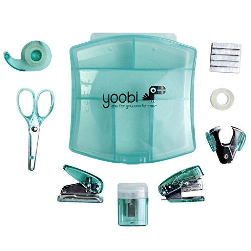 Desk Mini Supply Kit-Aqua by Yoobi Trading