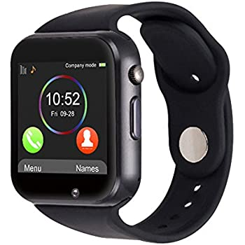 Amazon.com: A1 Smart Watch With Passometer Camera SIM Card ...