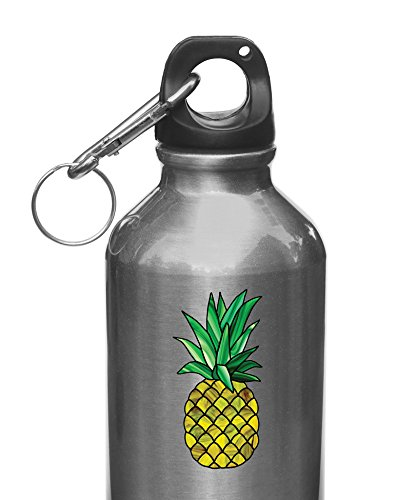 Pineapple Stained Glass Style - Vinyl Decal for Water Bottle