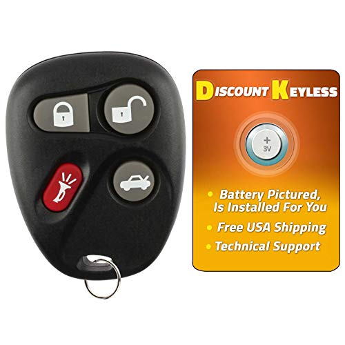 Discount Keyless Replacement Key Fob Car Remote Compatible with KOBLEAR1XT, 25695954, 25695955