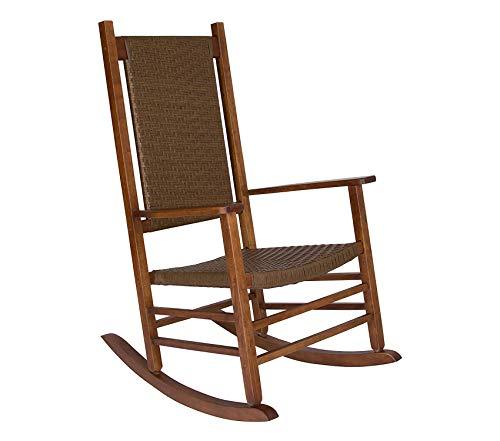 Wood & Style Patio Outdoor Garden Premium Hampton Porch Rocker, Oak
