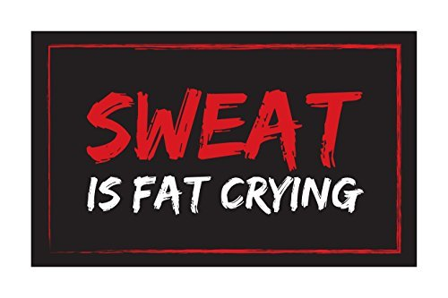 Sweat Is Fat Crying Inspirational Poster 18