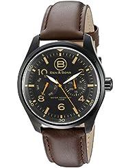 Ben & Sons Mens BS-10010-BB-01 Marshall Analog Display Quartz Brown Watch