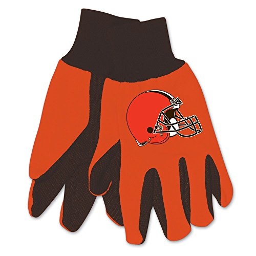 WinCraft NFL Cleveland Browns Two-Tone Gloves, 2-Pack, Orange/Brown