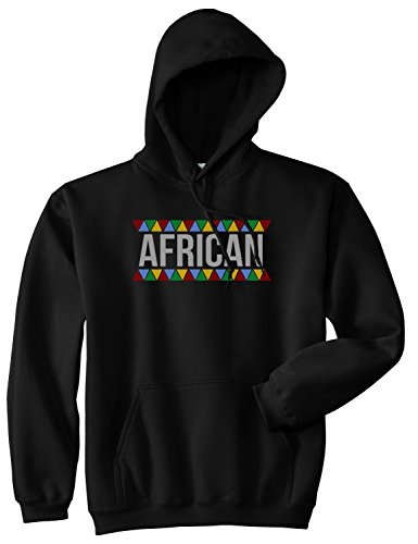 Afircan Pride Pattern Pullover Hoodie Hoody XX-Large Black by Kings Of NY