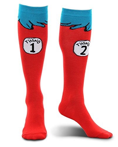 Dr. Seuss Thing 1 & 2 Kids Costume Socks by elope (Costume 2 En 1)