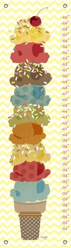 Oopsy Daisy Growth Chart, Sweet Treats Ice Cream Stack, 12