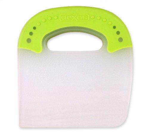 Dexas Jelli Plastic Chop & Scoop Pot and Pan Scraper, Green