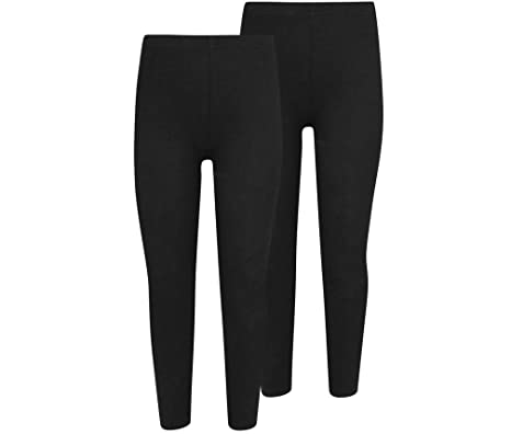 369741f870a5bc Overdose® 2x Pack Kids Girls Warm Thick Fleece Lined Leggings Full Length  Stretchy Thermal Highwaist Leggings (11-12 Yrs): Amazon.co.uk: Clothing