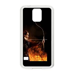 Samsung Galaxy S5 Phone Case White Jennifer Lawrence In Hunger Games TW8O3CIE Design Cell Phone Cases