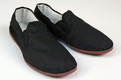 BlackBeltShop Rubber Sole Kung Fu Tai Chi Shoes Size Men's 12 1/2 to 13