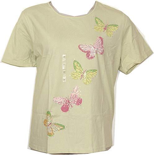 LIZ CLAIBORNE Plus Size Butterfly T-Shirt (2X, Light Green)