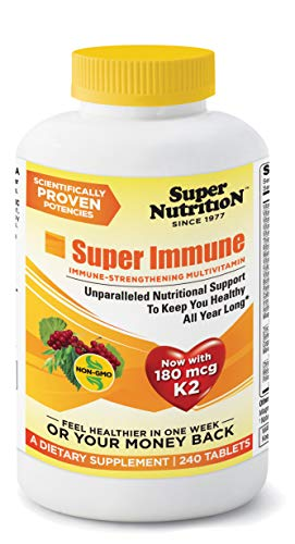 SuperNutrition, Super Immune Multi-Vitamin, High Potency, One/Day Tablets, 240 Day Supply