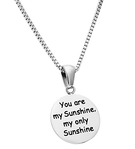 Price comparison product image 'You are My Sunshine, My Only Sunshine' Pendant Necklace