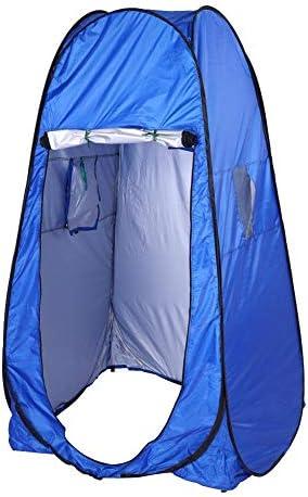 Ginyia Tienda De La Ducha, WC Portátil para Acampar Al Aire Libre Tienda De Ducha Emergente Tienda para Camping Inodoro De Playa Privacidad Vestuario De Playa