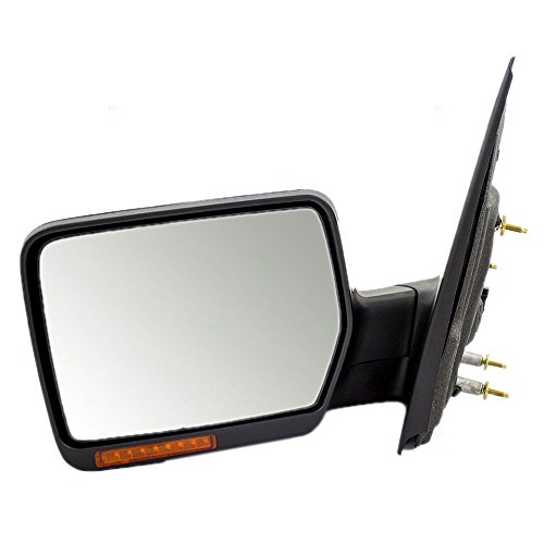 Drivers Power Side View Mirror Heated Signal with Chrome Cover Replacement for 04-06 Ford F150 Pickup Truck 06 Lincoln Mark LT 6L3Z 17683 EA