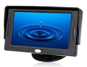 """Vayne 4,3 """"Visera de coches retrovisor LCD Monitor Accesorios"""