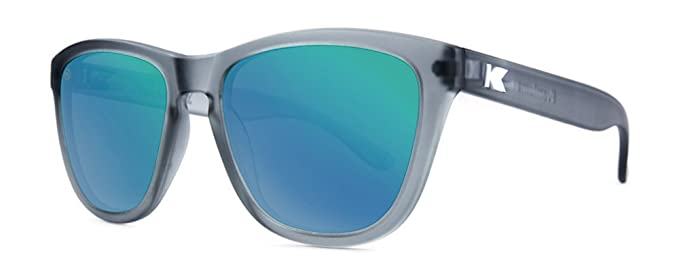 Sonnenbrillen Knockaround Premium Frosted Grey / Green Moonshine polarisierten yLb8Dx