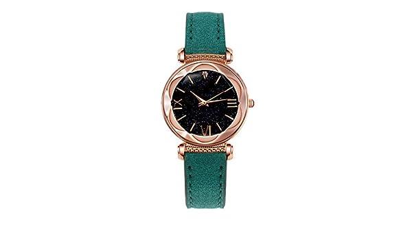 Amazon.com: Women Synthetic Leather Band Round Analog Quartz Wrist Watch Bracelet Bangle: Clothing