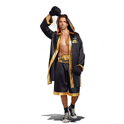 Boxing Suit Halloween Costume, Cloak with Hood, for Men and Women, Party Cos Play (Color : -
