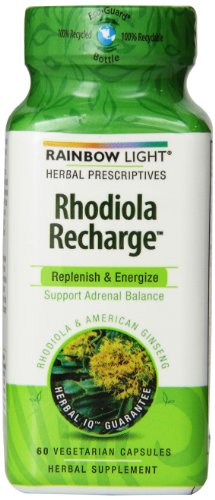Rainbow Light Herbal Prescriptives Rhodiola Recharge capsules, 60 comte