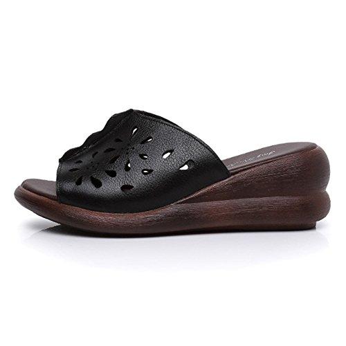 PU Disponibili 3 nero Pattini Taglie in Colori Traspiranti Pantofole 6 TINGTING Ciabatte Tingting tuoxie Scarpe Pieghe Cave Pieghe vApF1qZxw