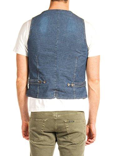 Fantasia Carrera Del Sul Per Look Jeans Tono Blu G81 Gilet Micro Denim Uomo 88rgOq