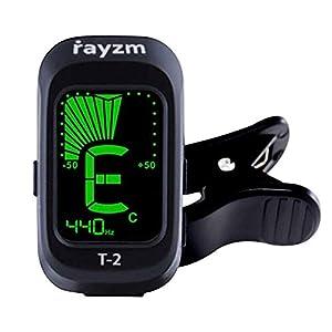 Rayzm Gitarren-Tuner/Stimmgerät, Clip-on Tuner für Chromatische/Gitarre/Bass/Ukulele/Violine, Übersichtliches LCD…