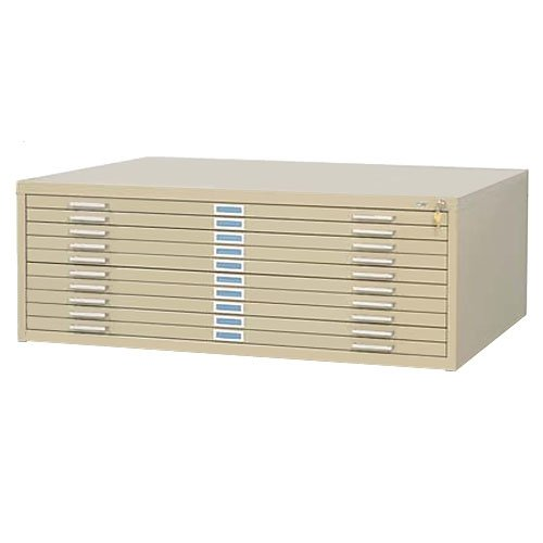 Safco SAF4986TSR 10 Drawer Steel Flat File for 30'' x 42'' Documents, Tropic Sand by Safco