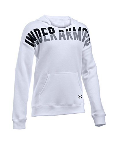 Under Armour Girls' Favorite Fleece Hoodie, White (100), Youth Medium